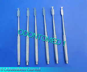 6 Ochsenbein 2 Periodontal Dental Surgical Chisel Curved Instruments