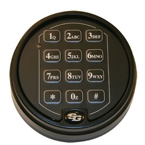Sargent And Greenleaf S g 6120 Digital Deadbolt Safe Lock With Black Keypad