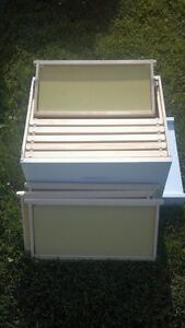 Deep Honey Super Deep Box Assembled painted for Bee Hive W Frames foundation