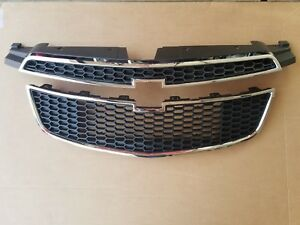 Fits 2011 2014 Chevy Cruze Front Bumper Upper Lower Grille Pair Set Of 2 Pcs