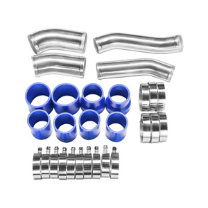 Cxracing Turbo Intercooler Piping Kit For Nissan 300zx Z32 Fairlady Blue Hose