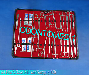 64 Pcs Minor Micro Surgery Instrument Surgical Instrument Kit