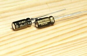 10pcs Japan Elna 25v 22uf High end Silmic Ii Series Hifi Audio Capacitor
