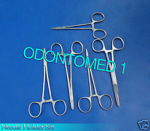 5 Suture Needle Holder Set Surgical Instruments Stainless Steel