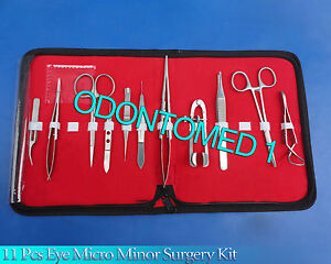 11 Pcs Eye Bishop castroviejo Surgery Surgical Instrument Kit