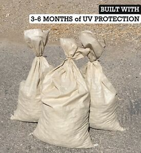 Sand Bags qty 500 Beige Sandbags For Flooding Wholesale Bulk By Sandbaggy