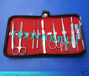 Dissecting Medical Kit set Of 9 Pieces Ds 706