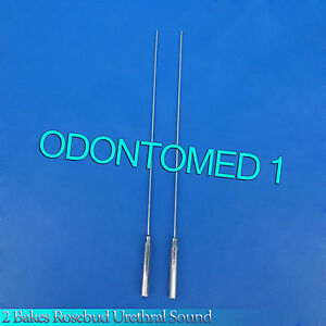 2 Pcs Bakes Rosebud Urethral Sounds 1mm 2mm