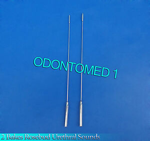 2 Pcs Bakes Rosebud Urethral Sounds 3mm 5mm