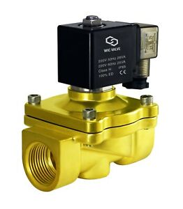 1 Inch Brass Zero Differential Electric Water Solenoid Process Valve 220v Ac Nc