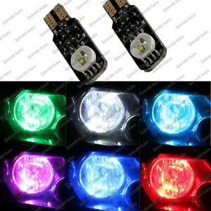 High Power 3w Rgb Multicolor Led Bulb Parking Lights T10 194 2 Pieces