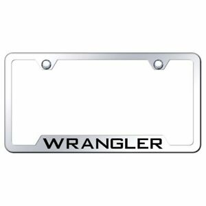 Jeep Wrangler Mirrored Chrome Stainless Steel License Plate Frame Gf wra ec