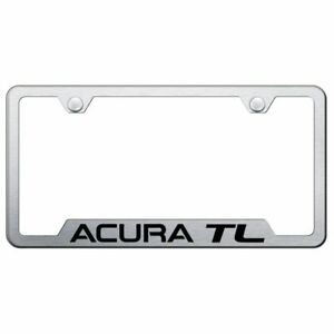 Acura Tl Brushed Chrome Stainless Steel License Plate Frame Gf Atl Es