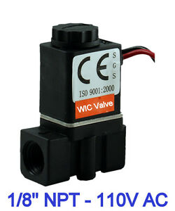 1 8 Inch Plastic Fast Response Electric Air Water Solenoid Valve 110v Ac Nc