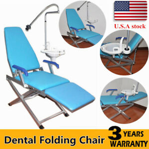 Dental Portable Folding Chair Unit With Water Supply System Cuspidor Tray New Us