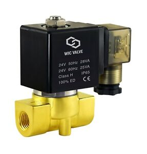 Brass Direct Acting Electric Air Gas Water Solenoid Valve 220v Ac 1 4 Inch Nc