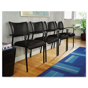 Lot Of 4 Mesh Stackable Reception Area Guest Side Office Chairs