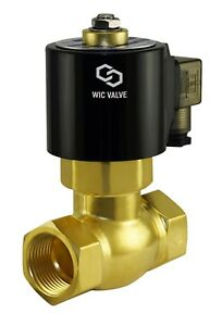 Brass Hot Water Steam High Pressure Electric Solenoid Valve Nc 220v Ac 1 2 Inch