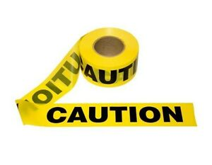 T15101 12 Rolls Yellow Barrier Caution Tape 1 5 Mil 3 x1000 Free Us Shipping