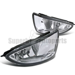 For 2004 2005 Honda Civic 2d 4dr Bumper Fog Lights Driving Lamps Switch Clear