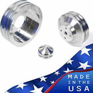 Billet Aluminum Pontiac Pulley Kit 350 400 428 455 Air Conditioning A C Vintage
