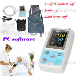 New 24 hour Ambulatory Blood Pressure Monitor Holter Abpm50 With 3 Cuffs