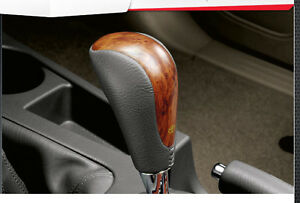 Leather Wooden Automatic Gear Shift Knob For Toyota Fortuner 2011 2012 Genuine