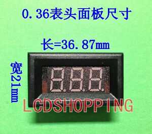 New For 50pc Red Led Panel Meter Mini Digital Voltmeter 3 2v 30v 0 36led