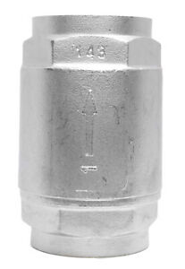 1 Stainless Steel 316 In Line Spring Check Valve 150 Lb Class