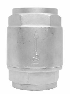 1 1 4 Stainless Steel 316 In Line Spring Check Valve 150 Lb Class