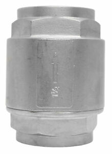 1 1 2 Stainless Steel 316 In Line Spring Check Valve 150 Lb Class