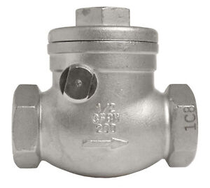 1 2 Stainless Steel 316 Swing Check Valve 200wog