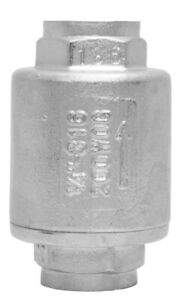1 4 Stainless Steel 316 In Line Spring Check Valve 150 Lb Class