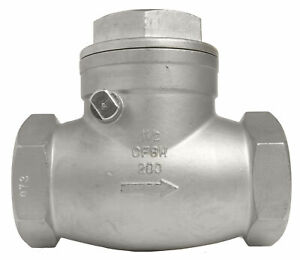 1 1 2 Stainless Steel 316 Swing Check Valve 200wog