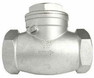 2 Stainless Steel 316 Swing Check Valve 200wog
