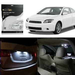 6 White Led Interior Lights Package For Dome 1 72 Map T10 License Plate Lamp