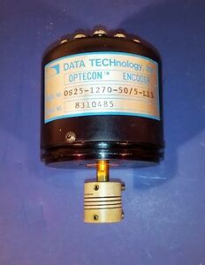Data Technology Optecon Rotary Encoder Os25 1270 50 5 l13 Wells Index Model 520