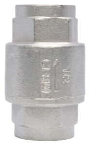 1 2 Stainless Steel 316 In Line Spring Check Valve 150 Lb Class