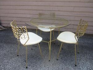 Salterini Maurizio Tempestini Set Of Mid Century Modern Patio Table And Chairs