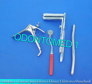 Mathieu Speculum Hegar Dilator red Pinwheel graves Vaginal Speculum Large