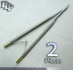 2 Pieces Of Without Lock 5 T c Castroviejo Barraquer Needle Holder