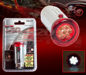 Pilot Automotive Red Led Cigarette Lighter Flashlight For Chevrolet