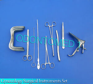 Gynecology Surgical Instruments Kit Forceps sims graves Speculum Large