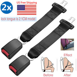 2pcs Safety Seatbelt Extender Extension Car Seat Lap Belt 15 Inch 7 8 Buckle