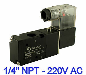 1 4 Inch 3 Way 2 Position Directional Control Electric Solenoid Valve 220v Ac