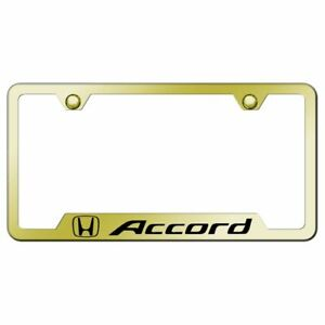 Honda Accord Mirrored Gold Stainless Steel License Plate Frame