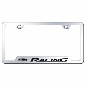 Ford Racing Mirrored Chrome Stainless Steel License Plate Frame