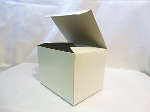 25 Boxes 6x4 5x4 5 Gift Retail Shipping Packaging White Gloss Cardboard