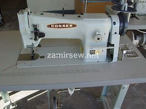 Consew 206rb5 Industrial Sewing Machine W needle Positioner Servo Caster Legs