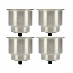 Lot Of 4 Stainless Steel Cup Holders Recessed Stainless Drink Holder With Drain